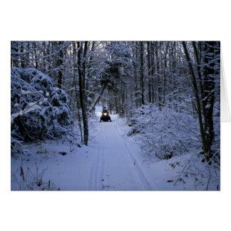 Snowmobiling nach neuem Schneefälle Winter Karte