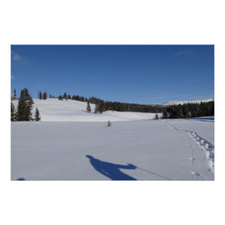 Snowshoeing in Yellowstone Nationalpark Poster