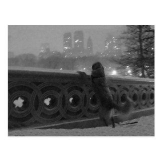 Snowy-Ansicht von der Bogen-Brücke Postkarte
