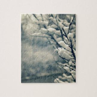 Snowy-Baum-Mausunterlage Puzzle