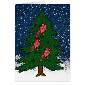 Snowy-Baum-Szenenkarte