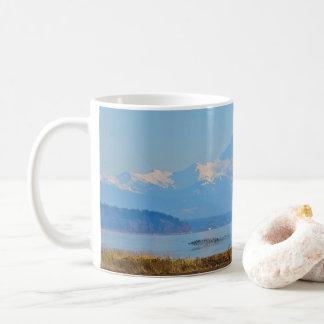 Snowy-Berg auf einer Tasse