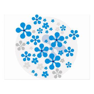Snowy-Blumen Postkarten