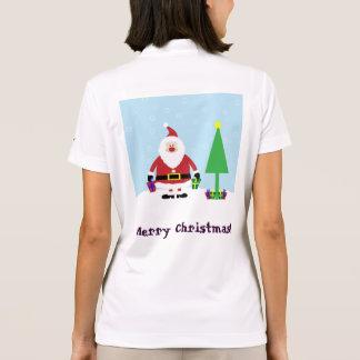 Snowy-Cartoon Sankt mit Geschenken und Polo Shirt