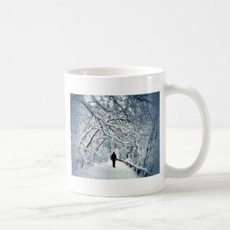 Snowy-Einsamkeit Kaffeetasse