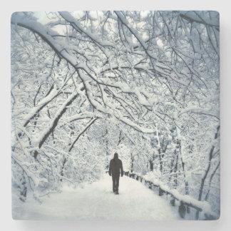 Snowy-Einsamkeit Steinuntersetzer