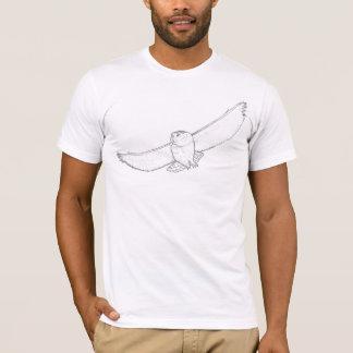 """""""Snowy-Eulen-"""" Designer-Grafik-T-Stück T-Shirt"""