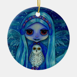 Snowy-Eulen-Fee-Verzierung Keramik Ornament