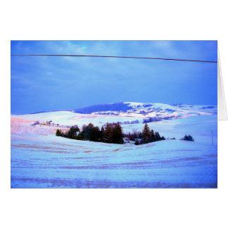Snowy-Hügel Karte