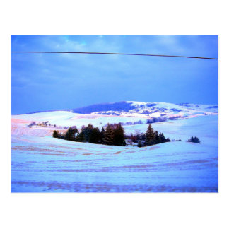 Snowy-Hügel Postkarte