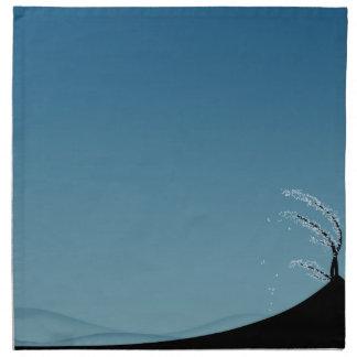 Snowy-Jahreszeit-Landschaft - Stoff-Serviette Serviette