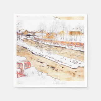 Snowy-Kanal-Bauholz-Rutsche Serviette