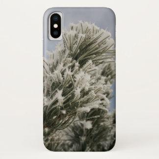 Snowy-Kiefern-Telefon-Kasten iPhone X Hülle