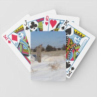 Snowy-Land-Zaun SPIELKARTE Bicycle Spielkarten