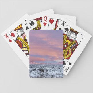 Snowy-Lavafeldlandschaft, Island Spielkarten