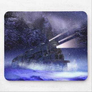 Snowy-Nachtzug-Mausunterlage Mousepad