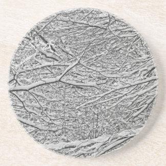 Snowy-Niederlassungen Sandstein Untersetzer
