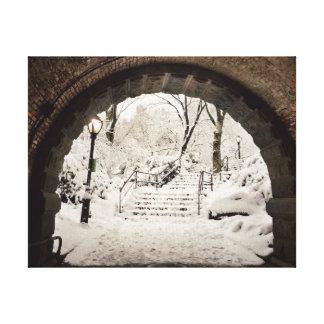 Snowy-Schutz im Central Park Leinwanddruck