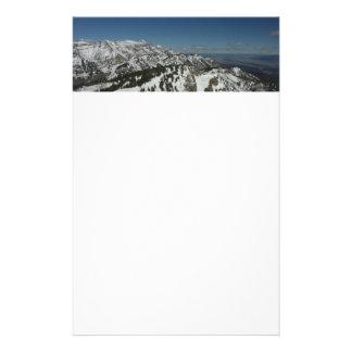 Snowy-Spitzen der großartigen Fotografie Teton Briefpapier