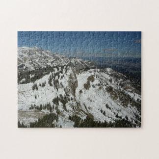 Snowy-Spitzen der großartigen Fotografie Teton Puzzle