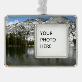 Snowy Tenaya See-Yosemite Nationalpark Foto Rahmen-Ornament Silber