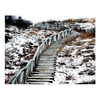 Snowy-Treppenhaus-Postkarte Postkarte