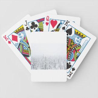 Snowy-Wald Bicycle Spielkarten