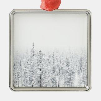 Snowy-Wald Silbernes Ornament