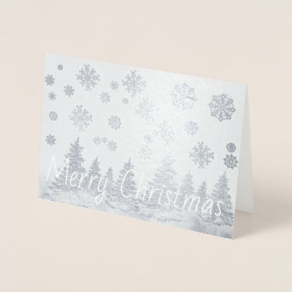 Snowy-Waldfolie Weihnachtskarte Folienkarte