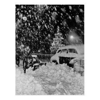 Snowy-Weihnachten in New York City Vintag Postkarten