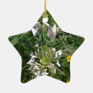 Snowy-Weiß-wilde Blumen durch JanLynn Keramik Ornament