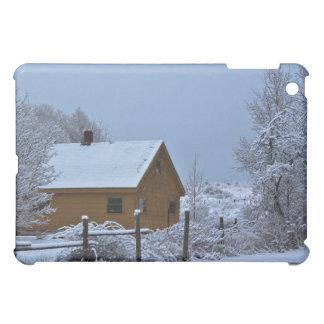 Snowy-Winter-Kabine am Weihnachten iPad Mini Hülle