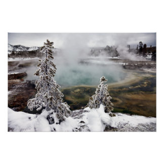 Snowy Yellowstone Poster