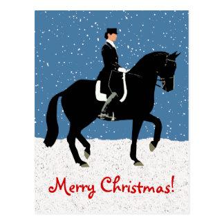 Snowydressage-Pferdeweihnachten Postkarte