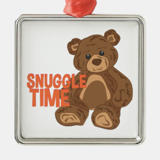 Snuggle-Zeit Silbernes Ornament
