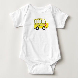Snugglebunny Baby Schoolbus Namensbodysuit Baby Strampler