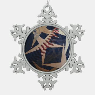So amerikanisch wie ..... schneeflocken Zinn-Ornament