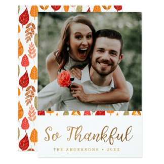 So dankbare Erntedank-Typografie 12,7 X 17,8 Cm Einladungskarte