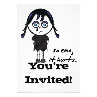 so emo Mädchen Einladungskarten
