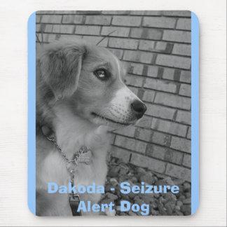 so ernst, Dakoda - Ergreifungs-wachsamer Hund Mousepads