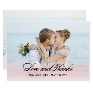 So in der Liebe danken Wedding   Ihnen Foto 12,7 X 17,8 Cm Einladungskarte