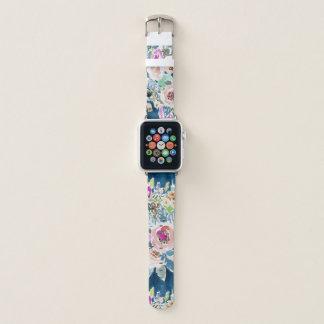 SO LUSCIOUS bunte Marine Boho Blumenmuster Apple Watch Armband