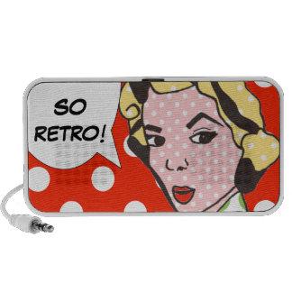 So Retro Pop-Kunst-Gekritzel-Lautsprecher Mobile Lautsprecher