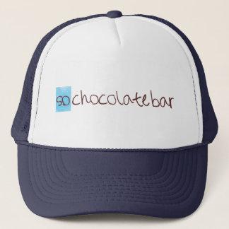 So Schokoladen-Bar-Fernlastfahrerhut! Truckerkappe