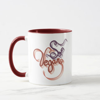 So veganes Brown lila Tasse