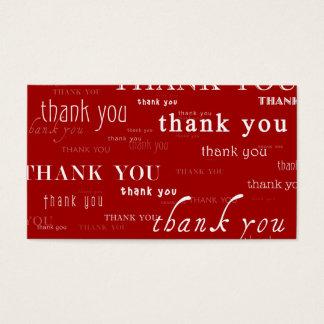 so viele danken yous für Ihre Empfehlung Visitenkarte