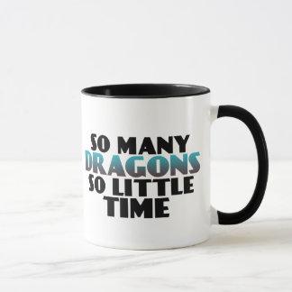 So viele Drachen so wenig ZeitGamersgeek-Tasse Tasse