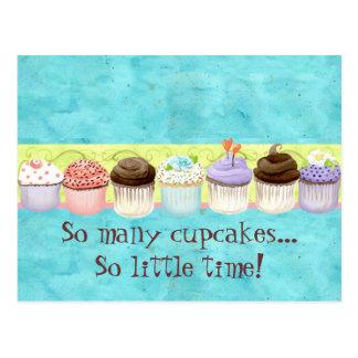 So viele kleinen Kuchen, so wenig Zeit!  Kuchen-Ku Postkarten