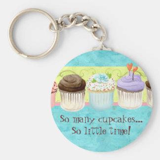 So viele kleinen Kuchen, so wenig Zeit!  Standard Runder Schlüsselanhänger