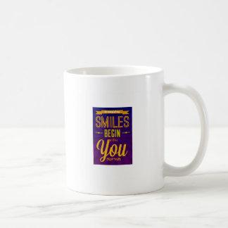 So viele meines Lächelns fangen mit Ihnen an Kaffeetasse